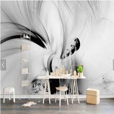 Aliexpress Kup 3D Abstract Wall Murals Black White Lines Stripe