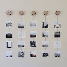 diy photo collage wood for dorm wall