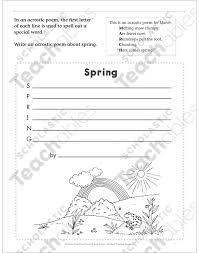 spring acrostic march poetry frame