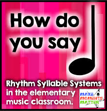 Eastman Counting System Chart Rhythm Syllable Systems What To Use And Why Make