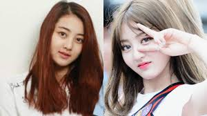 jihyo twice before and after wearing makeup