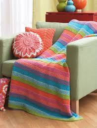 Yarnspirations Patterns Delectable Yarnspirations Bernat Striped Blanket Free Pattern Easy