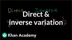 Direct Variation Chart Intro To Direct Inverse Variation Video Khan Academy