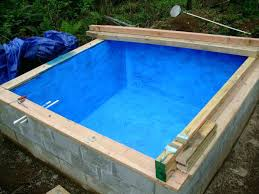 ames blue max. Brushed Concrete Cistern Coated With Rubber Sealer Ames Blue Max Lowes . O