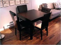 black breakfast table small dining elegant space saver sets round glass set with leather chairs