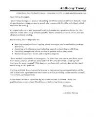 Cover Letter Sample For Office Assistant
