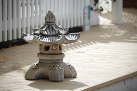 double top japanese paa lantern chinese garden ornament
