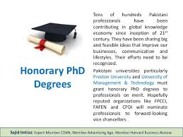 Phd Degree Honorary Phd Degree