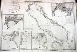 Google Marine Maps Charting Gulf Of Venice Italy Antique Maps And Charts Original