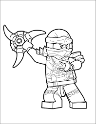 Free Coloring Pages Ninjago Cole (Page 1) - Line.17QQ.com