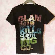 All Time Low T Shirt Design Glamour Kills Galaxy Tee This Shirt Design Has Been Depop