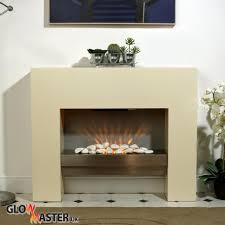 free standing electric fire mdf white surround fireplace flicker living flame