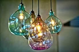 elegant hand blown glass mini pendant lights or pendant lights lighting style ideas blown glass pendant