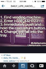 Free Money From Vending Machine Classy 48 Best Vending Machine Hack Images On Pinterest Vending Machines