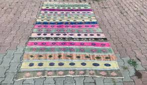 tribal kilim runner rug 4 9 6 9ft vintage cotton runner oushak rug runner boho rug multicolo