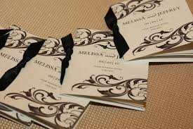 Wedding Program Scroll Invitations More Photos Black And White Programs