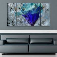 Wall Art Sets For Living Room Ready2hangart Painted Petals Lx Canvas Set By Ready2hangart