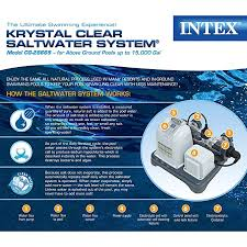 Salt water pool above ground Saltwater 8000 Amazoncom Intex Krystal Clear Saltwater System With Eco electrocatalytic Oxidation For Up To 15000gallon Above Ground Pools 110120v With Gfci Gxqzninfo Amazoncom Intex Krystal Clear Saltwater System With Eco