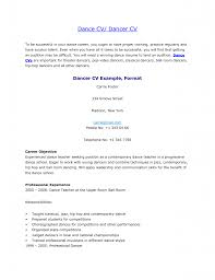 Dancer Cv Example With Professional Experience As Teacher For Career