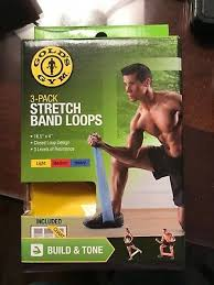 Golds Gym Stretch Band Loops Workout Build Tone Balance 3