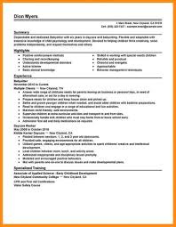 Template Sample Babysitter Resume 7 Examples In Word Pdf Cover