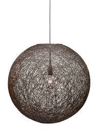 large pendant lighting. FIJI Large Pendant Chocolate Lighting