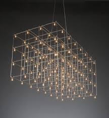 creative lighting design. Creative Design For Cool Light Fixtures With Many Mini Lamps And Slim Iron Foundation Idea Lighting