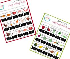Air Fryer Oven Cooking Chart Air Fryer Cooking Times Printable Cheat Sheets My Crazy
