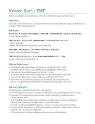 Emt Resume Simple Emt Resume Examples Musiccityspiritsandcocktail