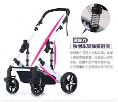 Bassinet stroller system Far Away From Automobile Exhaust High Landscape  Baby Trolley Safety Infant Car