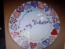 valentines plate ceramic paintingpottery