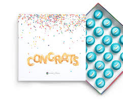 Baby Blue Congratulations Gift Box Baked By Melissa