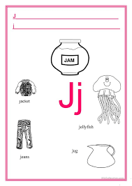The international phonetic alphabet divides its letter symbols into three categories: Alphabet Letter J English Esl Worksheets For Distance Learning And Physical Classrooms