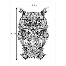 1 шт временный боди арт тату наклейка Km 062 поддельный эскиз мультфильм сова