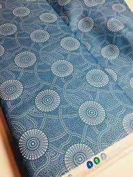 New! Australian Fabric - Kangaroo Path in Blue Aboriginal Blender by Roseann  Morton 100% Quality Cotton M&S Textiles by 1/2… | Aboriginal fabric,  Fabric, Aboriginal