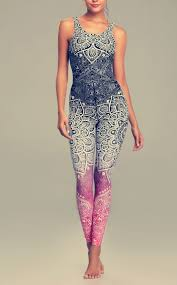 LI FI Mandala Print Yoga Set <b>Fitness Women Sports</b> Running <b>Suit</b> ...