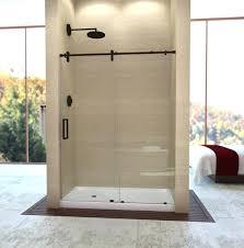 frameless sliding shower door oil rubbed bronze sliding shower doors