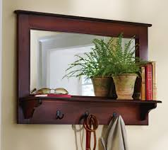 Coat Rack With Mirror And Shelf Cortland Hallwaymudroom Entry Wall Shelf W Hooks I Need this ASAP 19