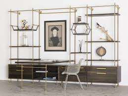 home office shelving systems. amuneal: the collector\u0027s shelving system brass work station customize your desk home office systems