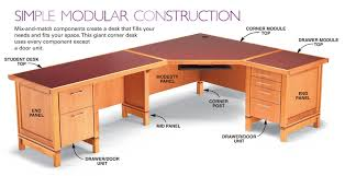 modular computer desk system how to build a modular desk system free diy desk plans school