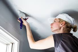 how to paint a ceiling without roller marks
