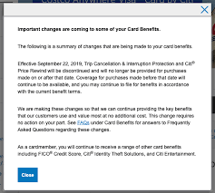 citi removing card benefits things to