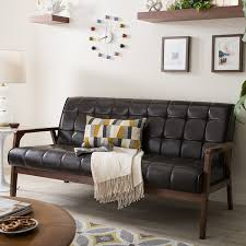baxton mid century sofa is a great leather sofa you can have in your