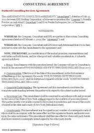 Consultant Agreement Template Free