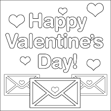 Small Picture Valentine Day Color Pages Valentines Day Greeting Cards Coloring