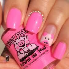 Pink Piggy Nails | The Crafty Ninja