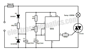 v flashing lamp circuit  solid state flashing lamp schematic