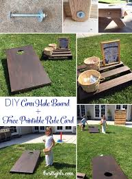 diy corn hole board learn how to make your own bean bag toss boards to