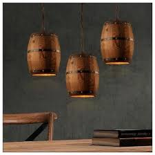 New Design Wooden <b>Country Pastoral</b> Retro Barrel Chandelier ...