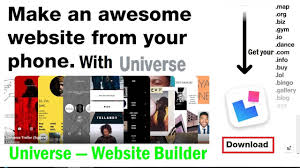 make a free website online easy create your free website very easy on phone with universe website